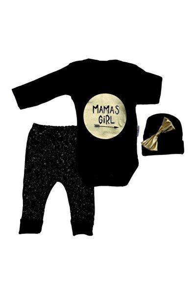 Şapkalı Mamas Girl 3 Lü Kız Bebek Takımı K2598