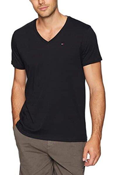 Erkek Siyah V - Neck Men T-shirt