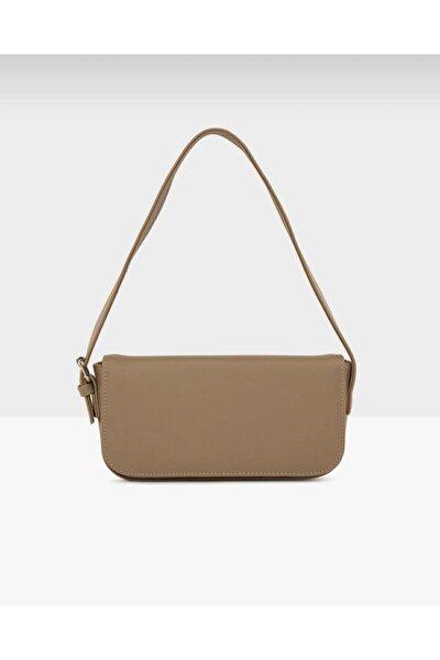 Kadın Vizon Kapaklı Baget Çanta