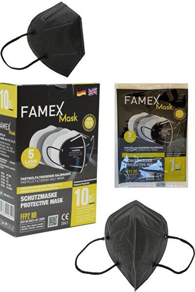 Famex Siyah Ffp2 Nr Medikal Maske 10'lu