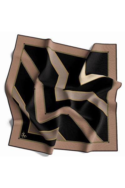 Kadın Vizon Siyah Twill Eşarp Black Seri 90x90cm ve Eşarp Askısı