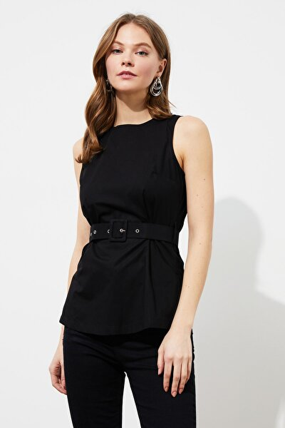 Siyah Kemer Detaylı Bluz TWOSS20BZ0888