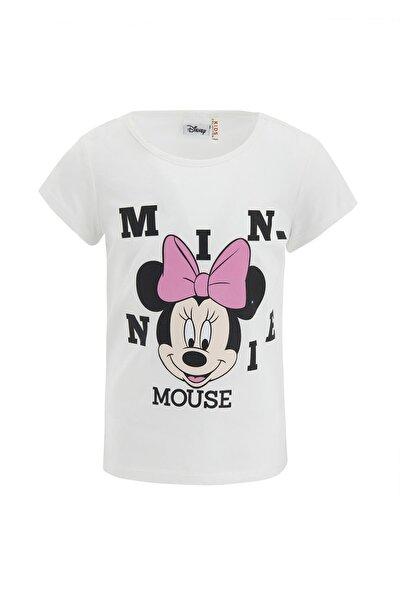 Kız Çocuk Minnie Mouse Lisanslı Kısa Kol Tişört