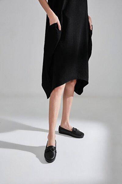 Sıyah Kadın Loafer Ayakkabı 01AYY600810A100