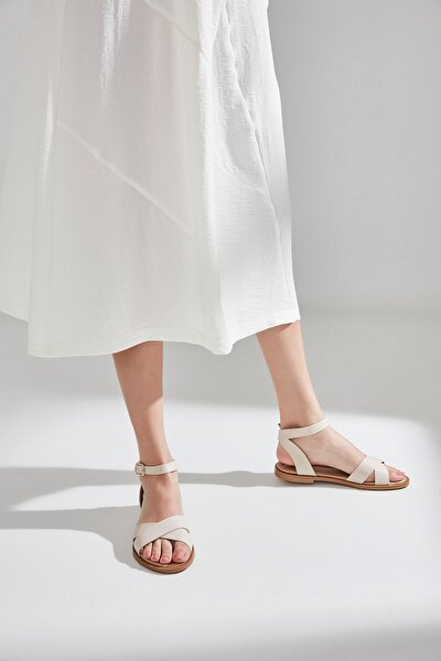 Hakiki Deri Kum Sandalet 01SAY600490A300