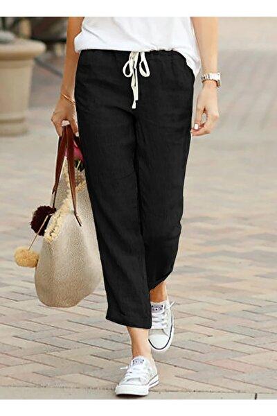 Kadın Siyah Yazlık Pantolon