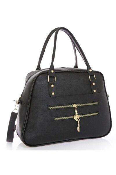 Kadın Siyah Polozen Omuz Çanta
