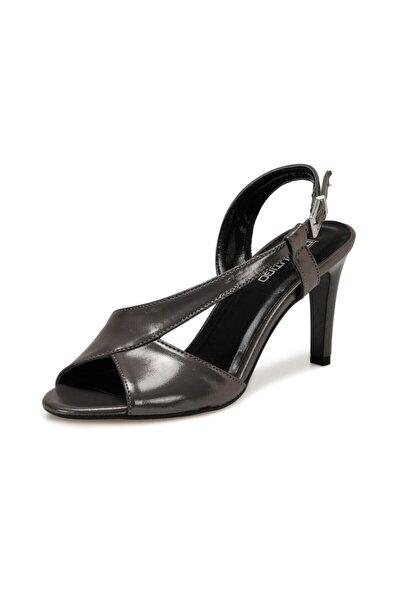 20S-523 Antrasit Kadın Topuklu Sandalet 100517408