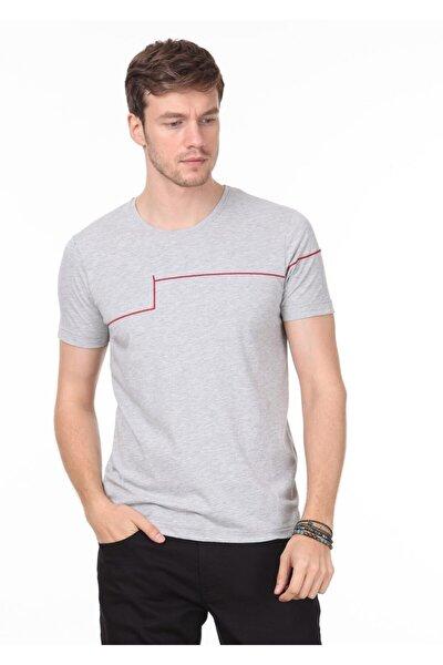 Erkek Açık Gri Örme T - Shirt RP10119988