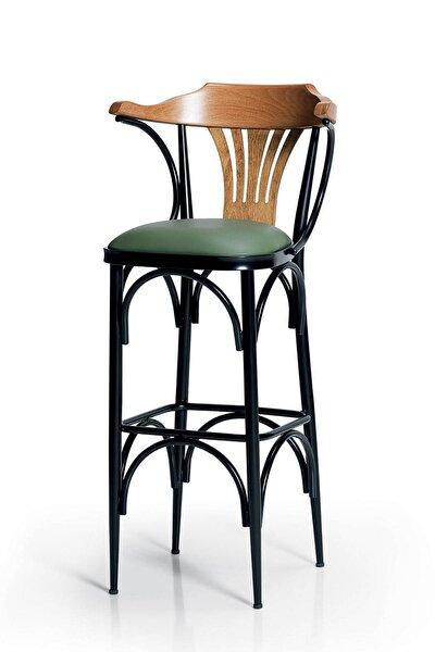 Bar Sandalyesi Yeşil-Kahve-T169/75