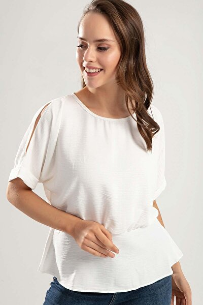 Kadın Arkadan Bağlamalı Kırinkıl Bluz Y20s126-10599