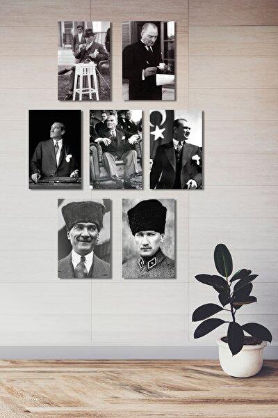 Atatürk Ahşap -mdf Poster (7 Adet 20x30 Cm)