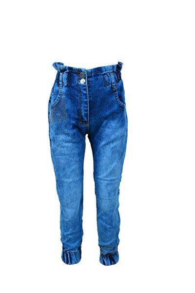 Kız Çocuk Mavi Yoyo Taşlı Pantolon