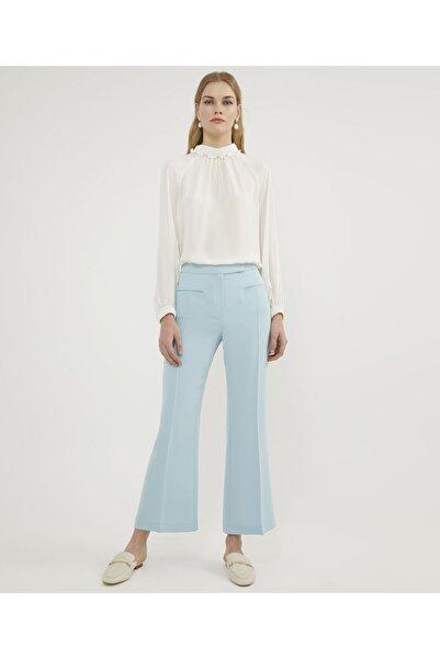 Kadın Mavi Ispanyol Paça  Pantolon V35780124