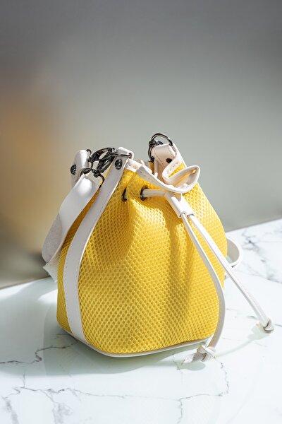 Kadın Çanta Sarı Beyaz Tbc02
