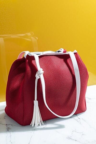 Kadın Çanta Kırmızı Beyaz Tbc05