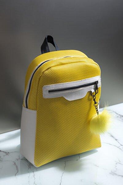 Kadın Çanta Sarı Beyaz Tbc03
