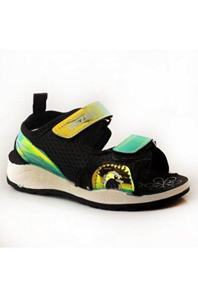 Çocuk Siyah Yeşil Sandalet