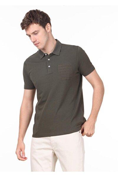 Erkek Haki Jakarlı Örme T - Shirt RP10119709
