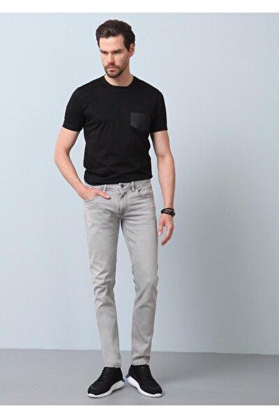 Erkek Gri Düz Denim Pantolon RP10119945