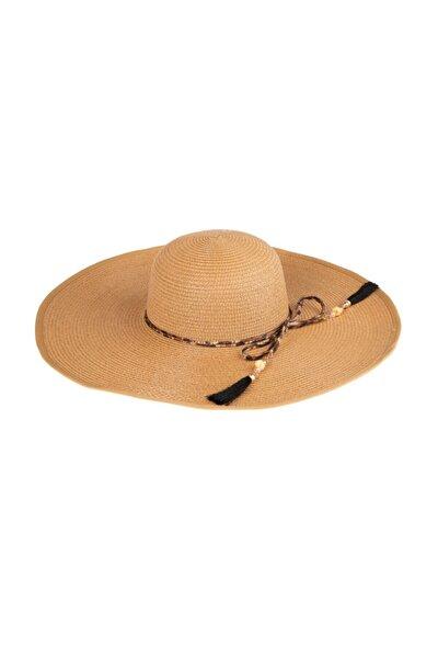 Kadın Büyük Hasır Şapka Camel (y2730-30camel)