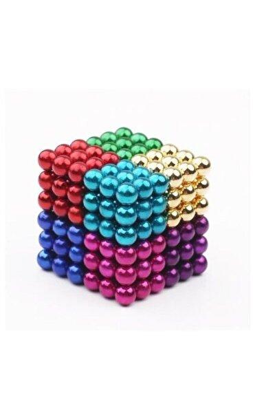 8 Karışık Renkli Sekiz Renk Manyetik Toplar Neodyum Mıknatıs Bilye 216 Adet 5 Mm Neo Cube Neodymium