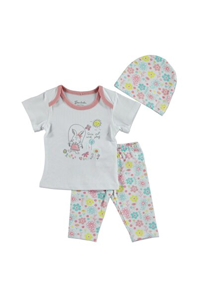 Kız Bebek Tavşan Desenli Takım Süprem Tshir Tayt