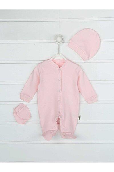 Pembe Kız Bebek 3 Lü Tulum