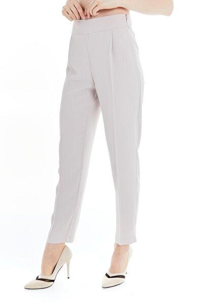 Kadın Pembe Özel Dikim Kumaş Pantolon