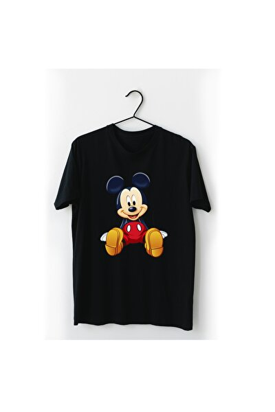 Mickey Mouse Siyah Tişört
