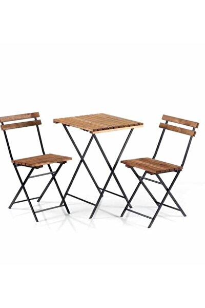 Bistro Seti Bahçe Masa Sandalye Seti 2 Sandalye 1 Masa
