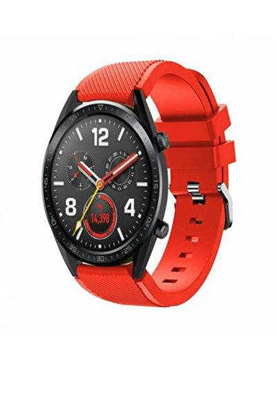 Huawei Watch Gt 46mm Sport Kordon Silikon Kırmızı