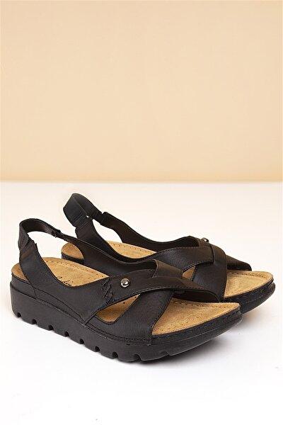 PC-1380 Siyah Kadın Sandalet