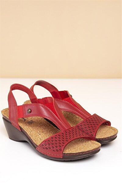 PC-1392 Kırmızı Kadın Sandalet