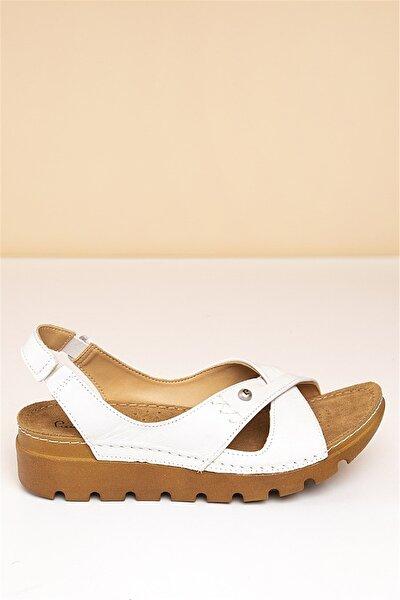 PC-1380 Beyaz Kadın Sandalet