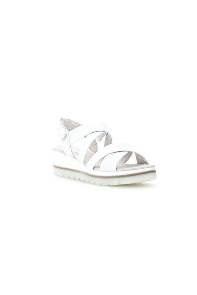 Yumuşak, Dolgu Topuk, Cırtlı Sandalet, Beyaz