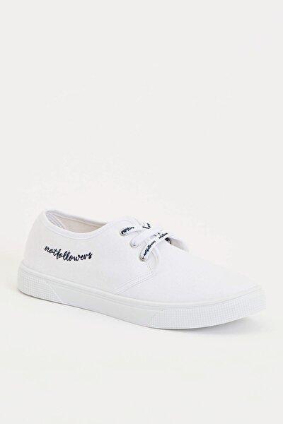 Kadın Beyaz Bağcıklı Sneakers Ayakkabı R3460AZ.20SP.WT16