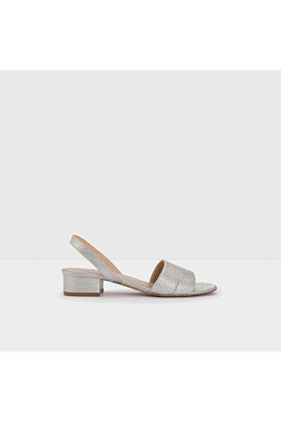 CANDY-TR - Orta Topuklu Gümüş Kadın Sandalet