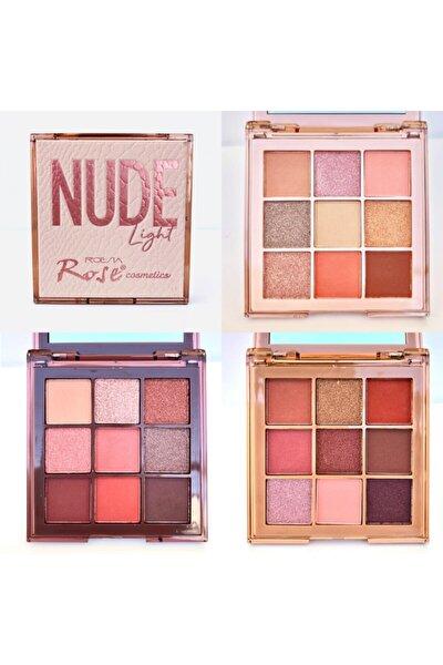 Rose Nude 9'lu Far Paleti 3 Farklı Far Seti