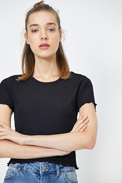 Kadın Siyah T-Shirt 0YAL18067UK