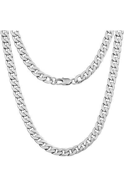 Gourmet Zincir Gümüş Kolye 60 Cm - 11 Mm