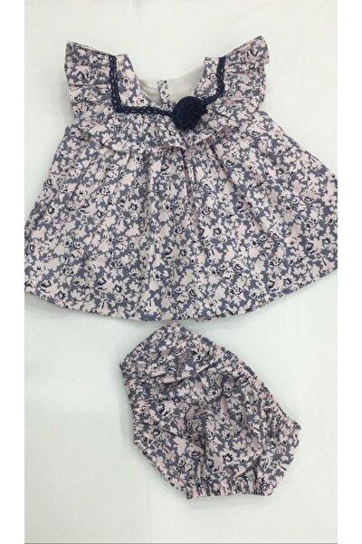 Kız Bebek Yazlık Elbise 2 Parça Çiçek Desenli