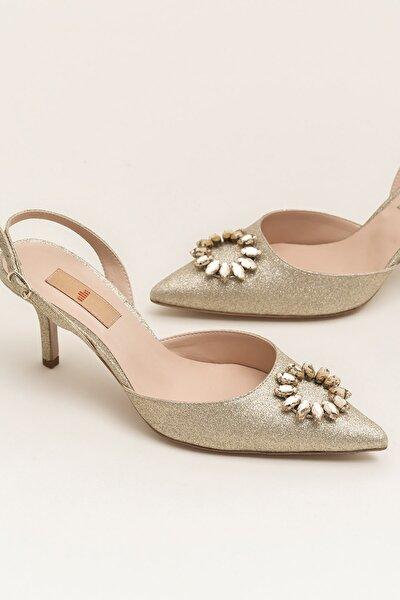 NISHAA Gold Kadın Ayakkabı