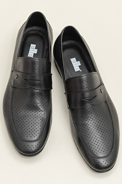 EDVARD Hakiki Deri Siyah Erkek Ayakkabı
