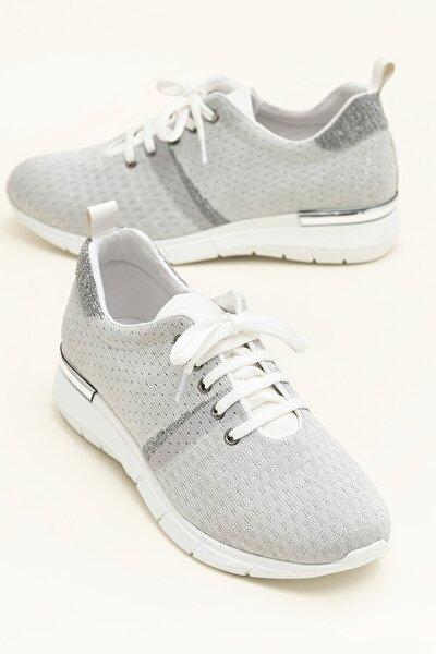 SARIKA Gümüş/Beyaz Sneaker 20YYN05336