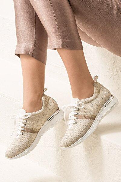 SARIKA Altın/Beyaz Sneaker 20YYN05336