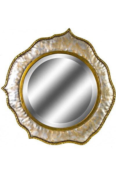 Dekoratif Metal Çerçeveli Ayna 76x78 cm