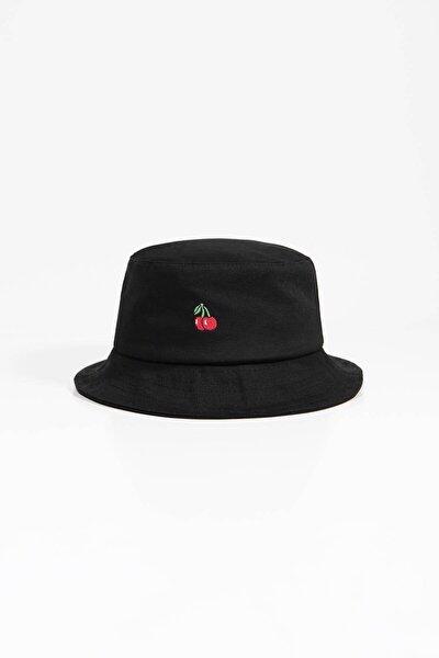 Kadın Siyah İşleme Detaylı Şapka ŞPK1018 ADX-0000022420