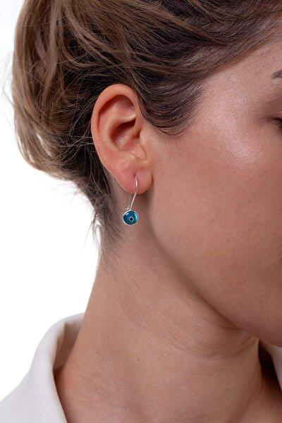 Kadın Nazarlıklı Model Gümüş Küpe NNVSLVR02391
