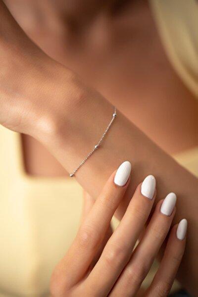 Kadın Toplu Model Sade Gümüş Bileklik PKT-NNVSLVR03655